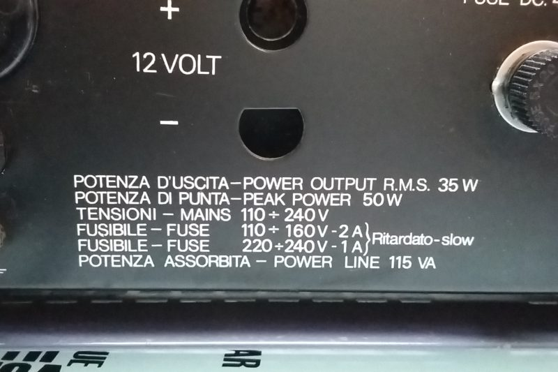 Amplificatore RCF mod. AM 835